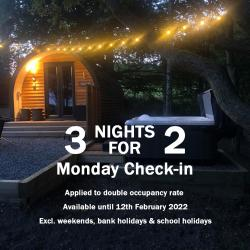 Stay 3 Nights for the Price of 2 Monday - Thursday