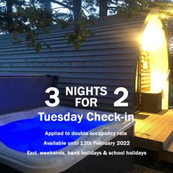 Stay 3 Nights for the Price of 2 Tuesday - Friday