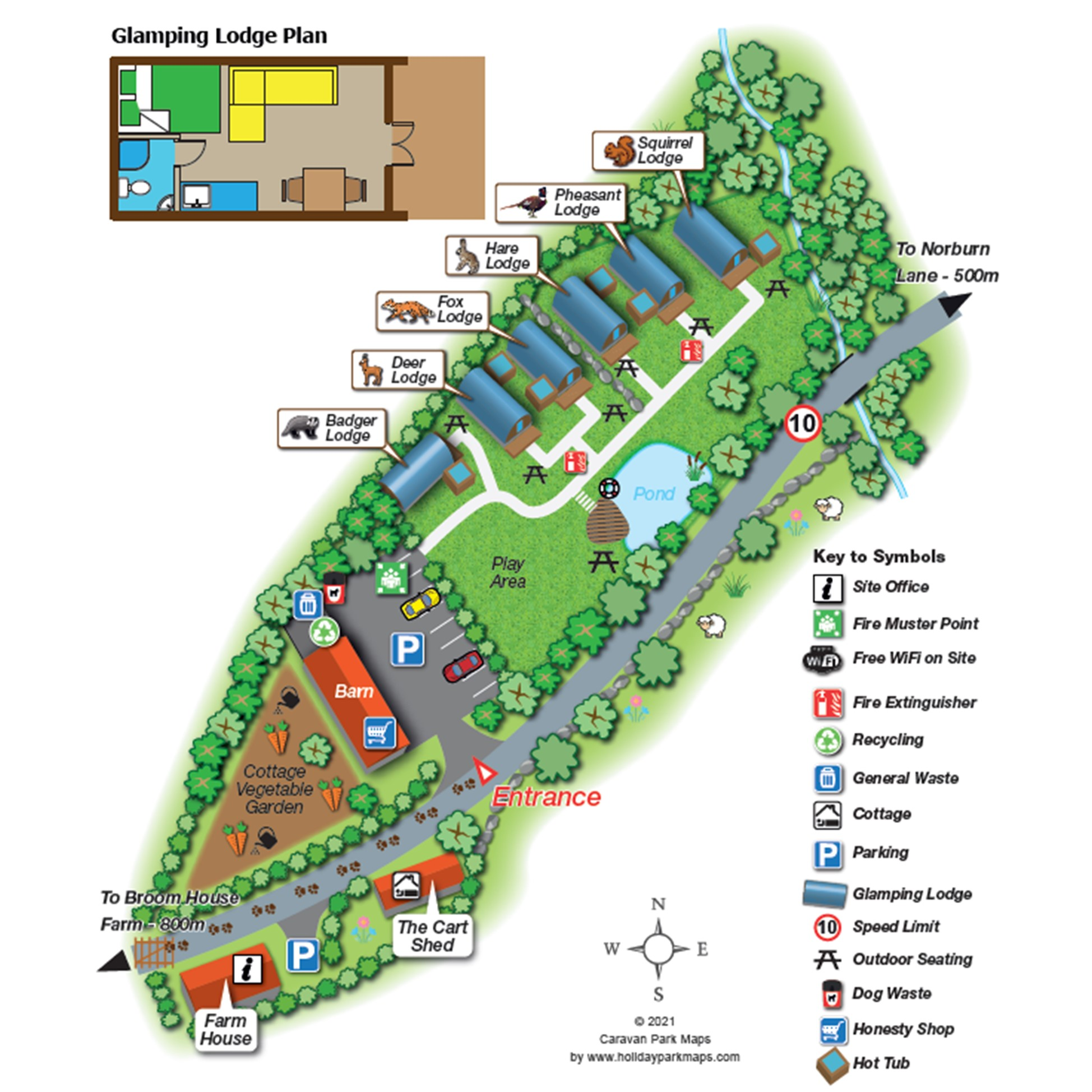Site Map - Glamping North East